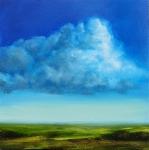 Landscape #1 huile sur bois MDF, 20X20 cm. Disponible.