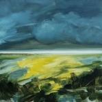 Landscape #10 huile sur bois MDF, 20X20 cm. Disponible