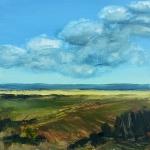 Landscape #11 huile sur bois MDF, 20X20 cm. Disponible