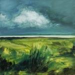 Landscape #12 huile sur bois MDF, 20X20 cm. Disponible