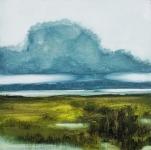 Landscape #14 huile sur bois MDF, 20X20 cm. Disponible