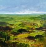 Landscape #2, huile sur bois MDF, 20X20 cm. Vendu.