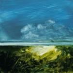 Landscape #3, huile sur bois MDF, 20X20 cm. Disponible.
