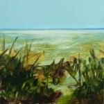 Landscape #5, huile sur bois MDF, 20X20 cm. Vendu.