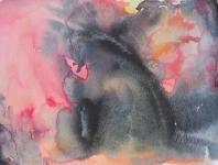 Le monstre, aquarelle sur papier, 21X28