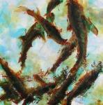 poiscailles-5-acrylique-sur-papier-60x60