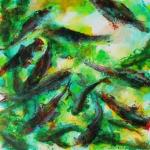 poiscailles-6-acrylique-sur-papier-60x60
