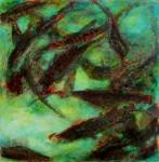 poiscailles_4_acrylique_sur_papier_60x60 Vendu.