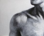 epaule_et_cou_noir_et_blanc_acrylique_sur_bois_49X61