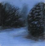 neige_a_la_tombee_de_la_nuit_pastel_sec_sur_papier_14X14