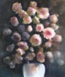 Le bouquet, technique mixte sur papier, 56X76 cm. Disponible.
