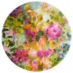 Printemps, acrylique sur toile, 60 cm diamètre. Disponible.