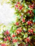 Les fleurs rouges, acrylique sur toile, 61,5X80. Disponible, prix sur demande.