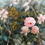 Fabienne Monestier Style rococo III, technique mixte sur toile, 50X50. Vendu.