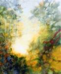 floral matin abstrait acrylique toile 50X60web