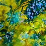 Lumières d'automne, huile sur toile, 60X60 cm. Disponible Fabienne Monestier. Autumn lights, oil on canvas, available