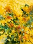 Fantaisie-florale-huile-et-pastel-gras-sur-toile-60X81-cm