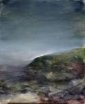 Paysage, technique mixte sur toile, 40X50