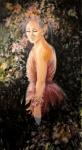Flora, disappointed, acrylique sur toile 150X80. Disponible.