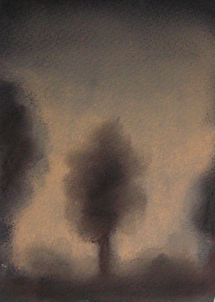 Nuit, pastel sur papier, Fabienne Monestier