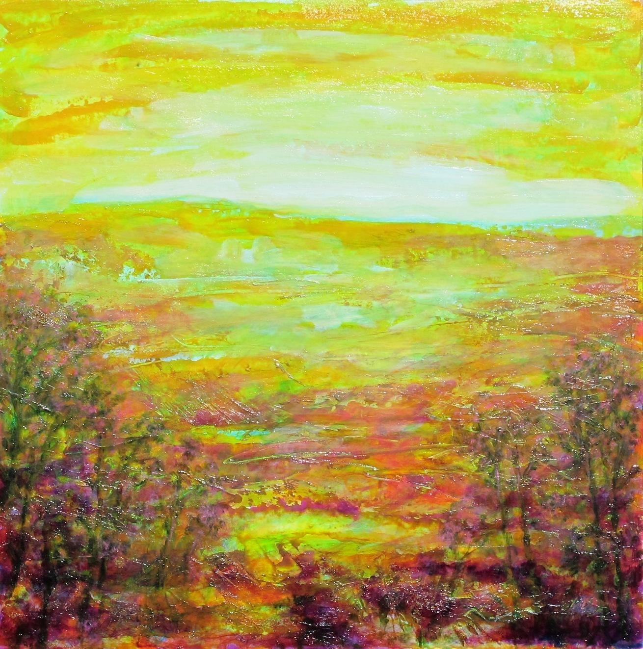 printemps_acrylique_sur_papier_68X68