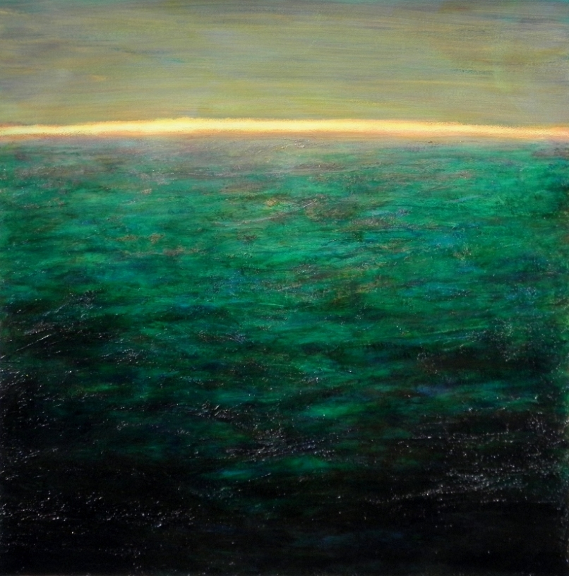 """""""Horizon"""", acrylique sur papier, 70X70"""