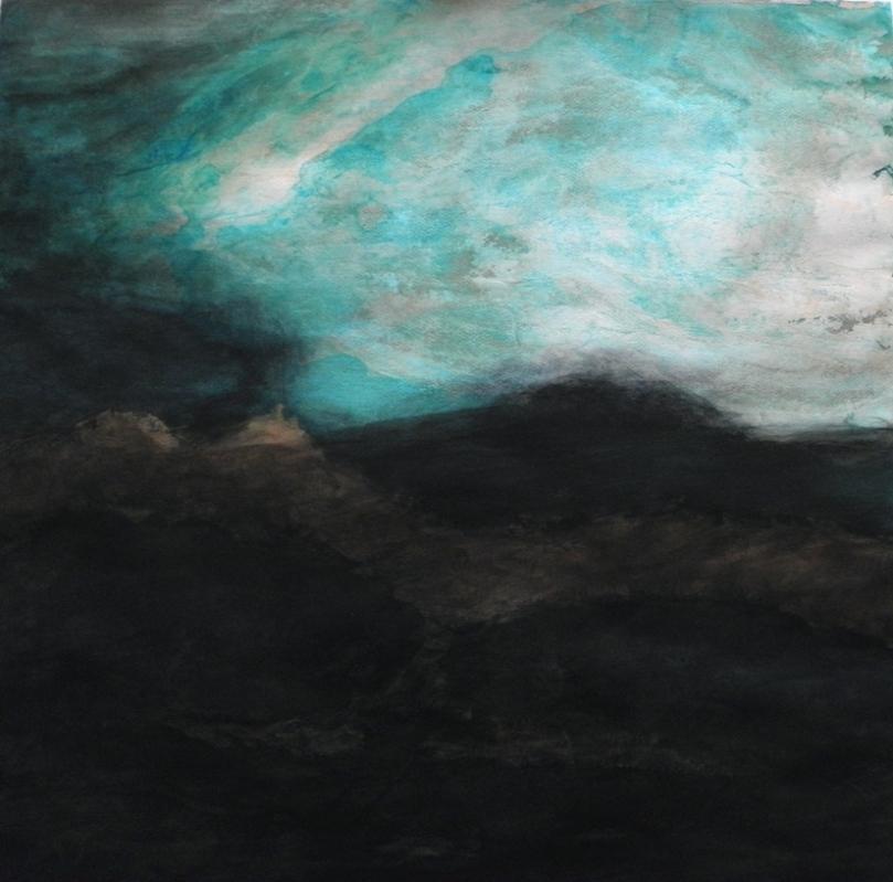 """""""Nocturne"""", acrylique sur papier, 70X70"""