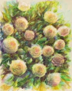 les roses 30X40