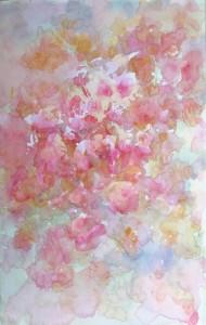 Les roses anciennes aquarelle sur toile 30X50 redim (2)