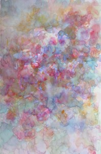 les roses anciennes aquarelle sur toile 30X50 redim (3)