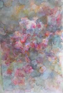 les roses anciennes aquarelle sur toile 30X50 redim (4)