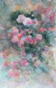 les roses anciennes aquarelle sur toile 30X50 redim (5)