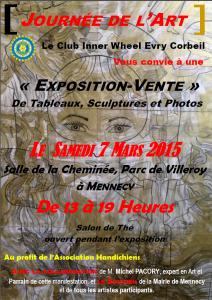 Exposition-vente au profit de «Handichiens», le 7 mars 2015, à Mennecy