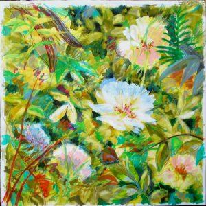 Read more about the article Pas à pas : «Les hautes herbes», acrylique sur toile, 90X90