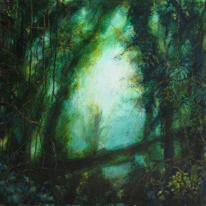 La clairière, acrylique sur toile, 70X70