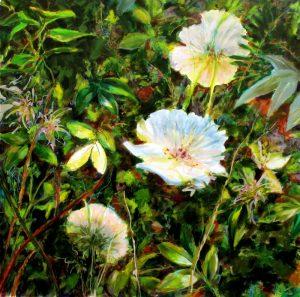 «Les hautes herbes», acrylique sur toile, 90X90