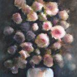 Le bouquet, peinture technique mixte sur papier, 51X61 cm Fabienne Monestier