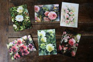 Chez Etsy : -25% sur «Fleurs», ma collection de 6 cartes postales