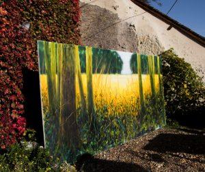 Le champ d'or, acrylique sur toile 400X200 cm