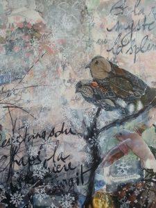«Soulboard : paysage de rêve en hiver» – collages et mixed media