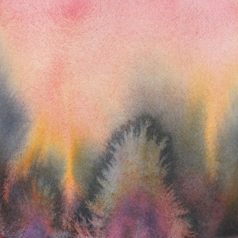Paysage d'hiver, aquarelle sur papier, 20X20 cm