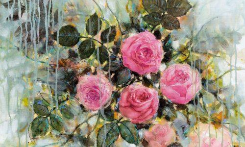 Pluie sur les roses