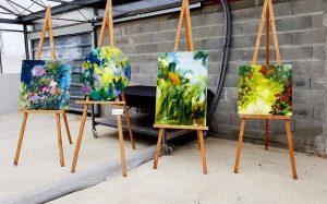 Mes peintures exposées à la Biennale.