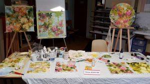 En démo à Vernou sur Brenne, à l'occasion du salon artistique.