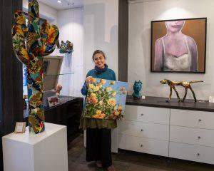 Mes oeuvres sont disponibles à la Galerie «Le Gisant», à Dinan.