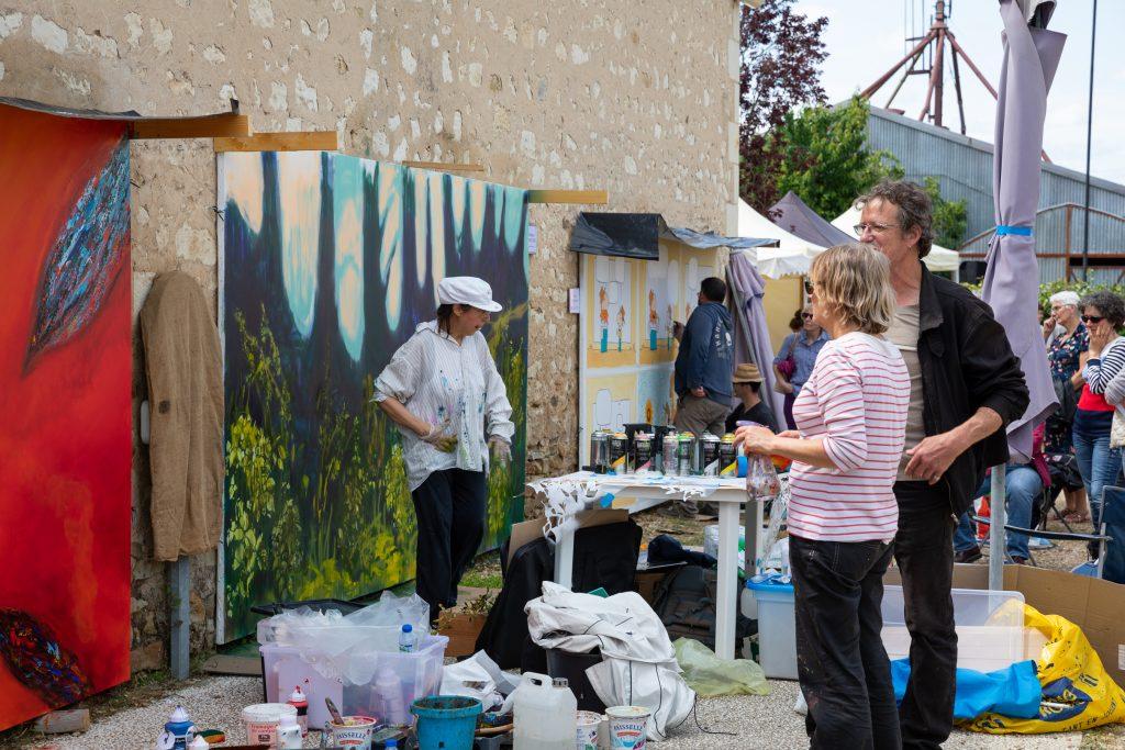 Les Pussifolies, Fabienne Monestier. Peinture en cours.