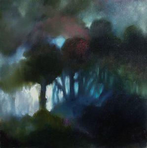 Night, huile sur toile, 40X40 cm