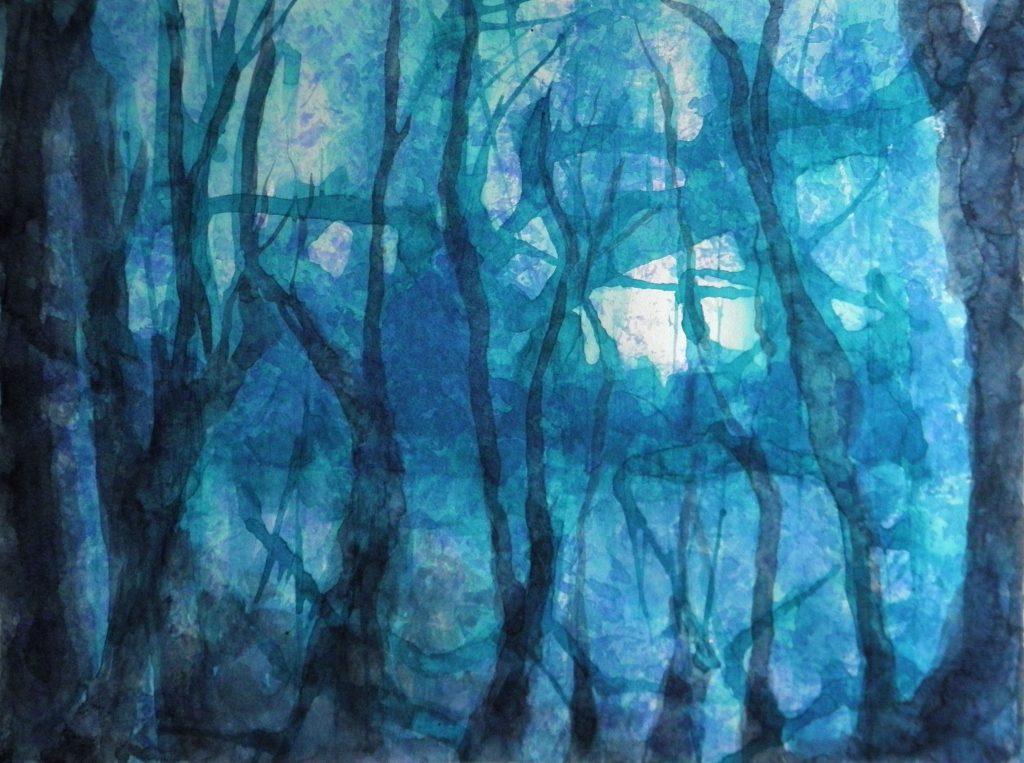 Forêt - aquarelle - Fabienne Monestier