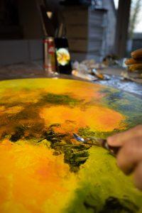 Quelques nouvelles de l'atelier : orange de rigueur !