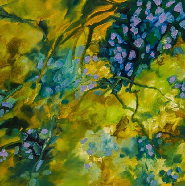 Lumières d'automne, huile sur toile 60X60 cm